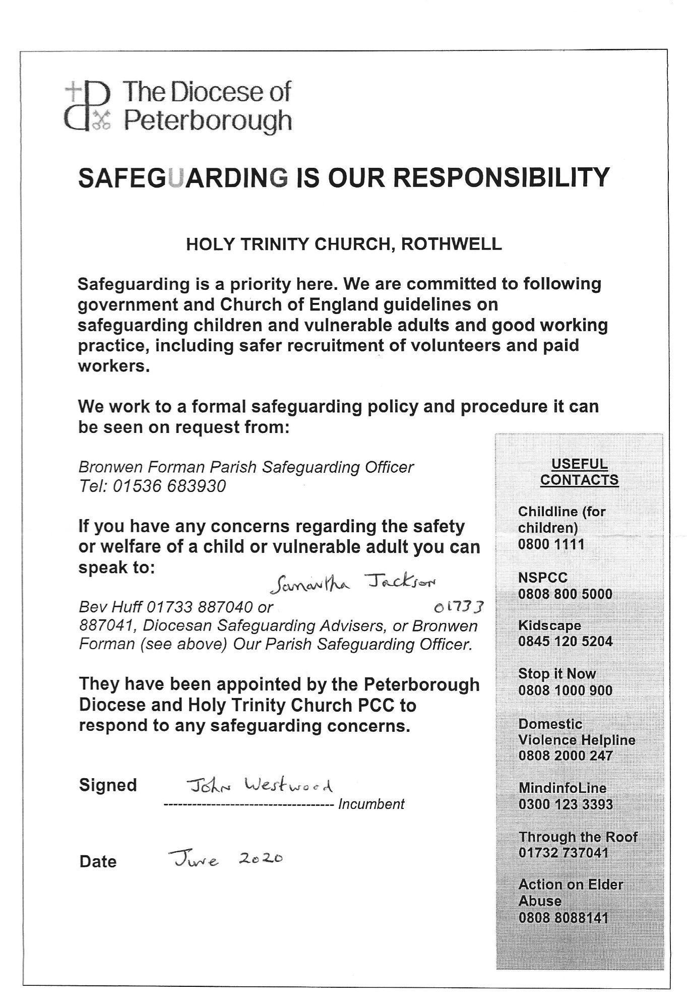 SafeguardingLetterwhiteHolyTrinity2020