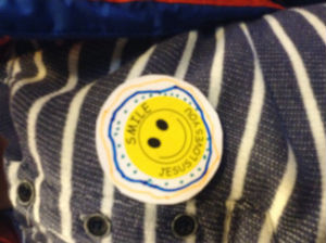 Smiley badge