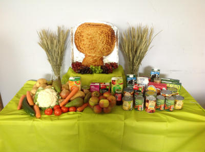 The main harvest display, close up