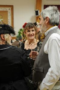 Victorians dressed for dinner