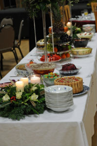 Beautifully decorated centre table of delights