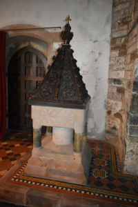 Norman Font with 16th C cover