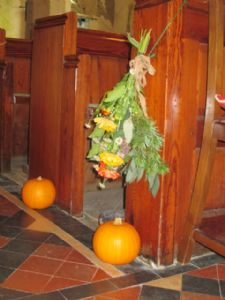 Church decorations for an October Wedding