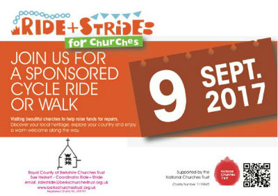 Join us for a sponsored cycle, ride or walk 9th September 2017 10am to 4pm
