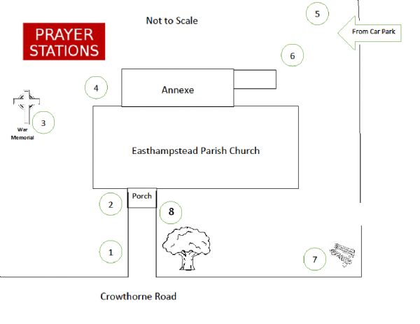Walking with Jesus - stations map