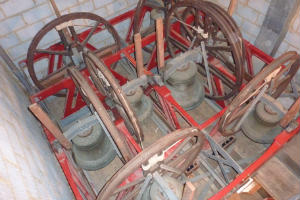 photo of church bells seen from above