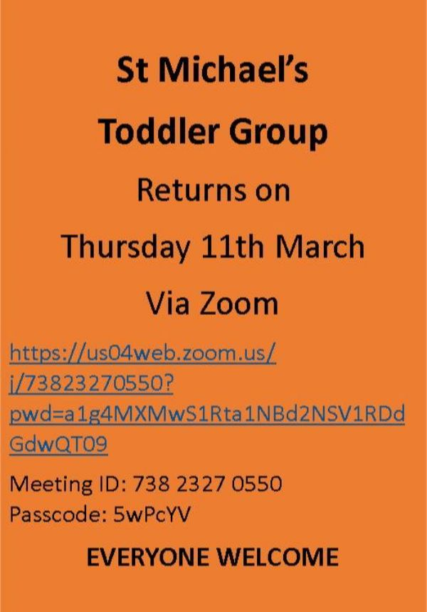 Information about Toddlers meeting via Zoom