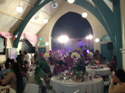Wedding reception in the hall