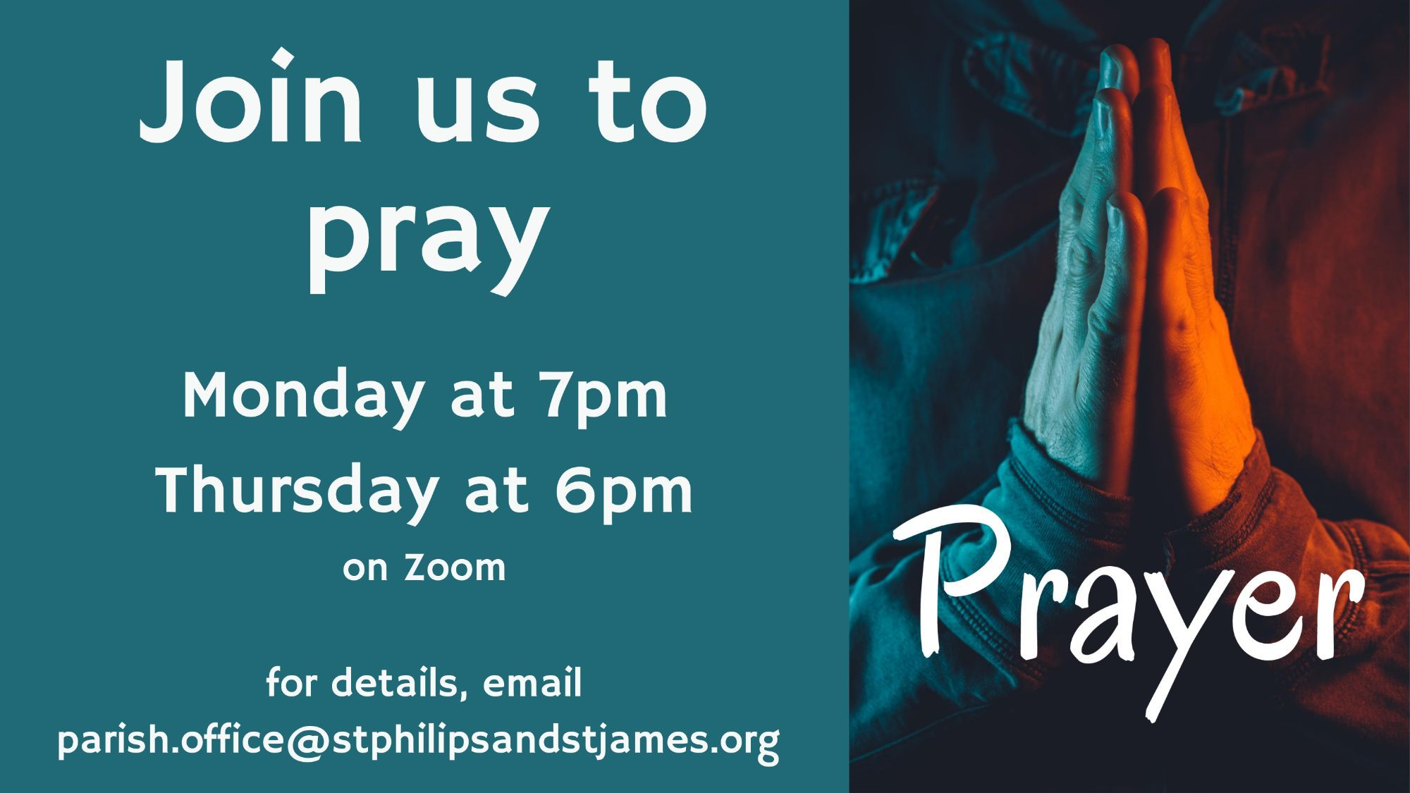 Join us to pray