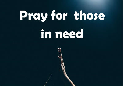Pray for those in need