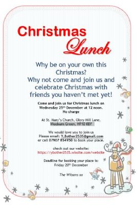 Christmas Lunch at St. Mary's
