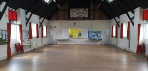 Church hall looking towards kitchen