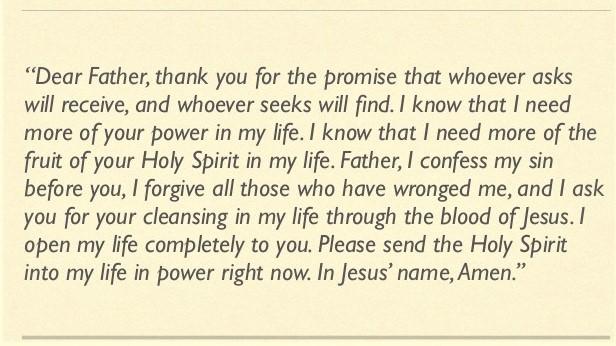 Prayer to Receive the Holy Spirit