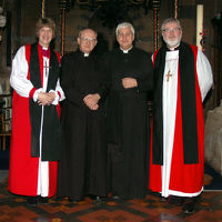 The Bishops with the Team Rectoer and the Archdeacon of Cheltenham