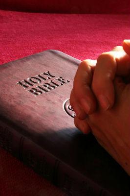 praying on bible