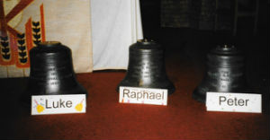 The bells named Luke, Raphael and Peter