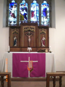 Our Lady Chapel can be used for private prayer