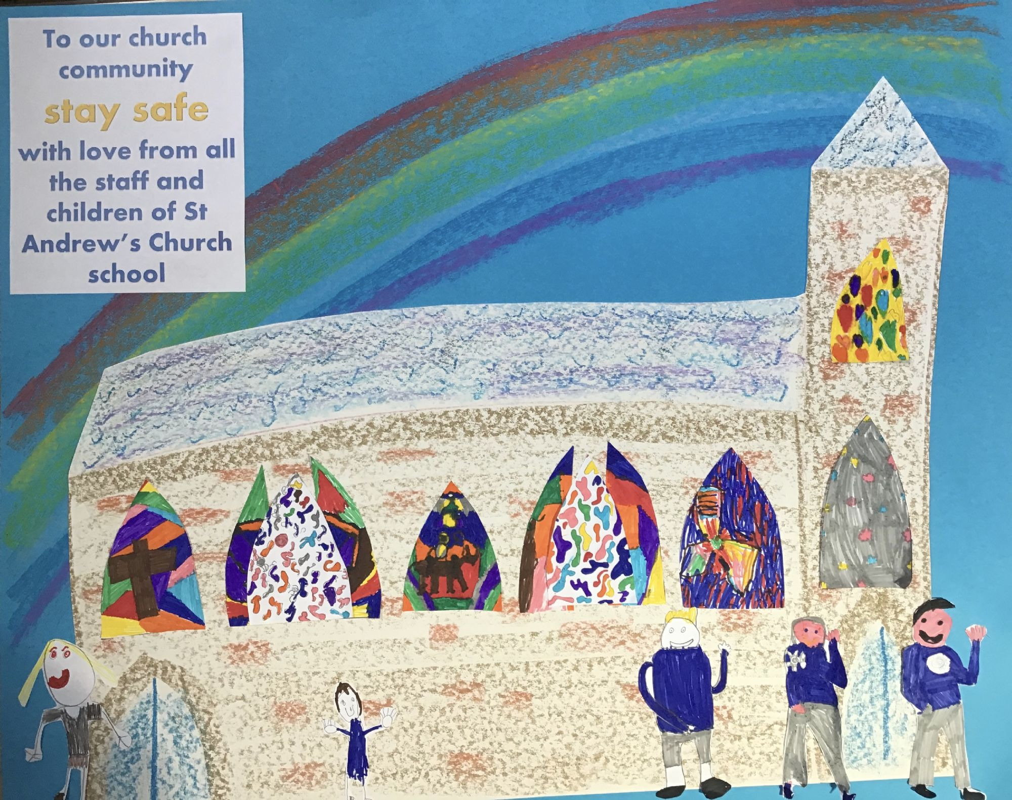 Drawing of the Church from St Andrews School