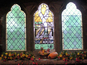 Our Railway window decorated for Harvest 2017