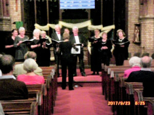 A concert in church by the Trinity Entertainers