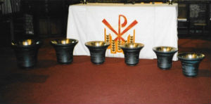 all six of the bells as they were named and dedicated