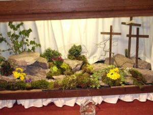 Our Easter Garden 2011 created by one of our flower ladies