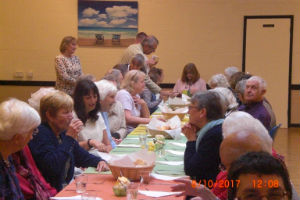 Harvest lunch in the church hall