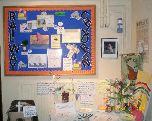 A display of some of our work is in church