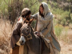 Joseph and Mary travel to Bethleham