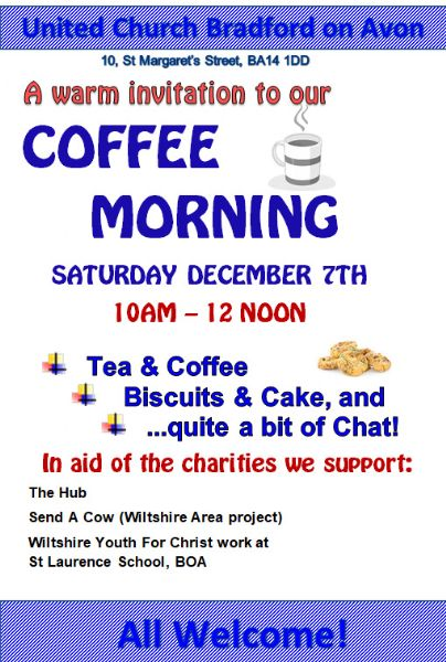 Coffee Morning Dec 7th 2019