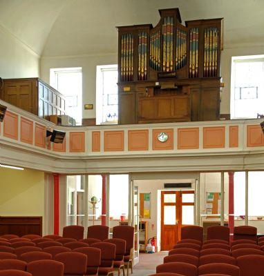 United Church - looking West towards organ loft