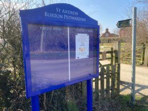 Burton noticeboard