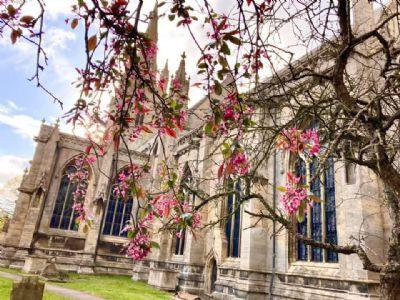 Heckington Church in Spring