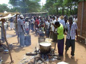 Food queue at convention Zimbabwe