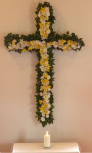 Easter Cross of Flowers