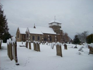 Church (from the north side) in snow