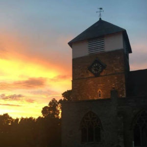 Marden Church - sunset
