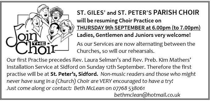 St Giles Choir Advert