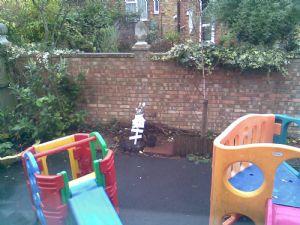 Outside soft play area