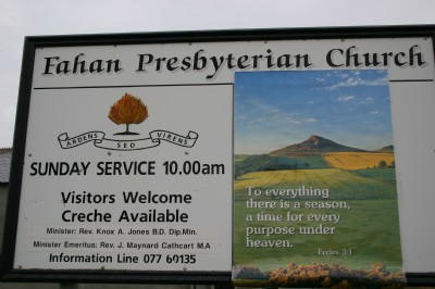 Welcome notice board