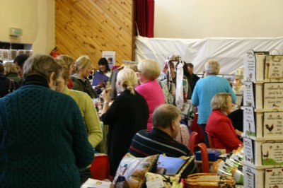 Packed, with hardly room to move at the Christmas Gift  Craft Fayre