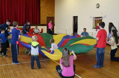 Great fun at Fahan HBC with the parachute