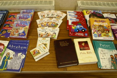 Holiday Bible Club Books on Stall