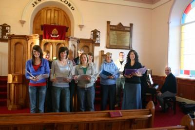 Church Choir during the Christmas Craft Fayre