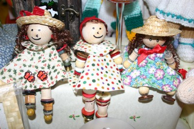 Hand made dolls on sale at the Craft Fayre