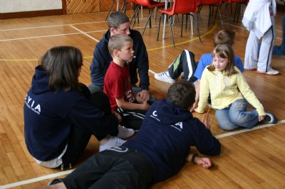 Christian Youth in Action team member at Fahan Holiday Bible Club.