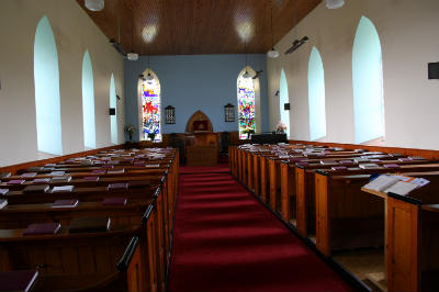 Inside of malin Presbyterian Church