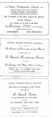 History Invitations to fahan