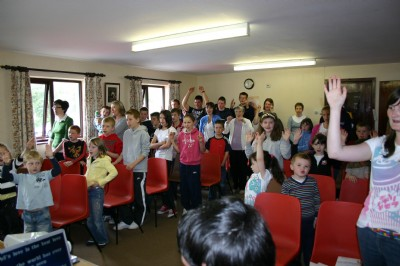Holiday Bible Club, great action songs and singing.