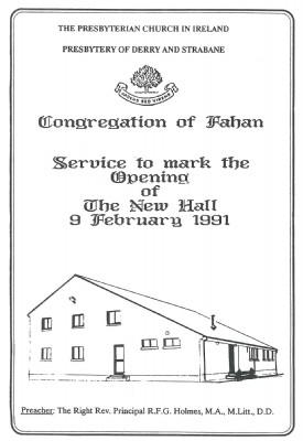 History New Hall 1991